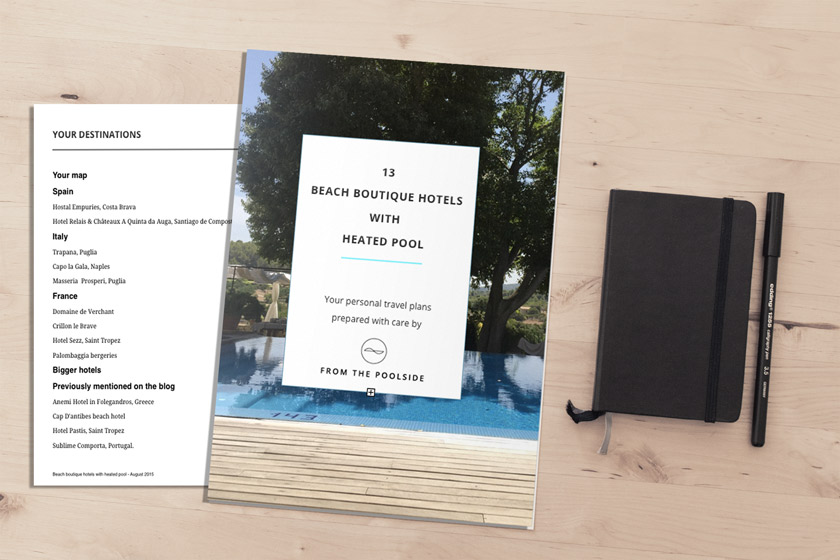 Get your own personalised travel plans from a boutique hotel lover and fan of French chic.