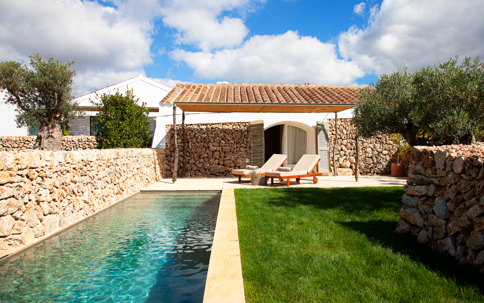 Torralbenc hotel, Minorca, cottage with private pool, boutique hotel, VIA From the Poolside blog on b