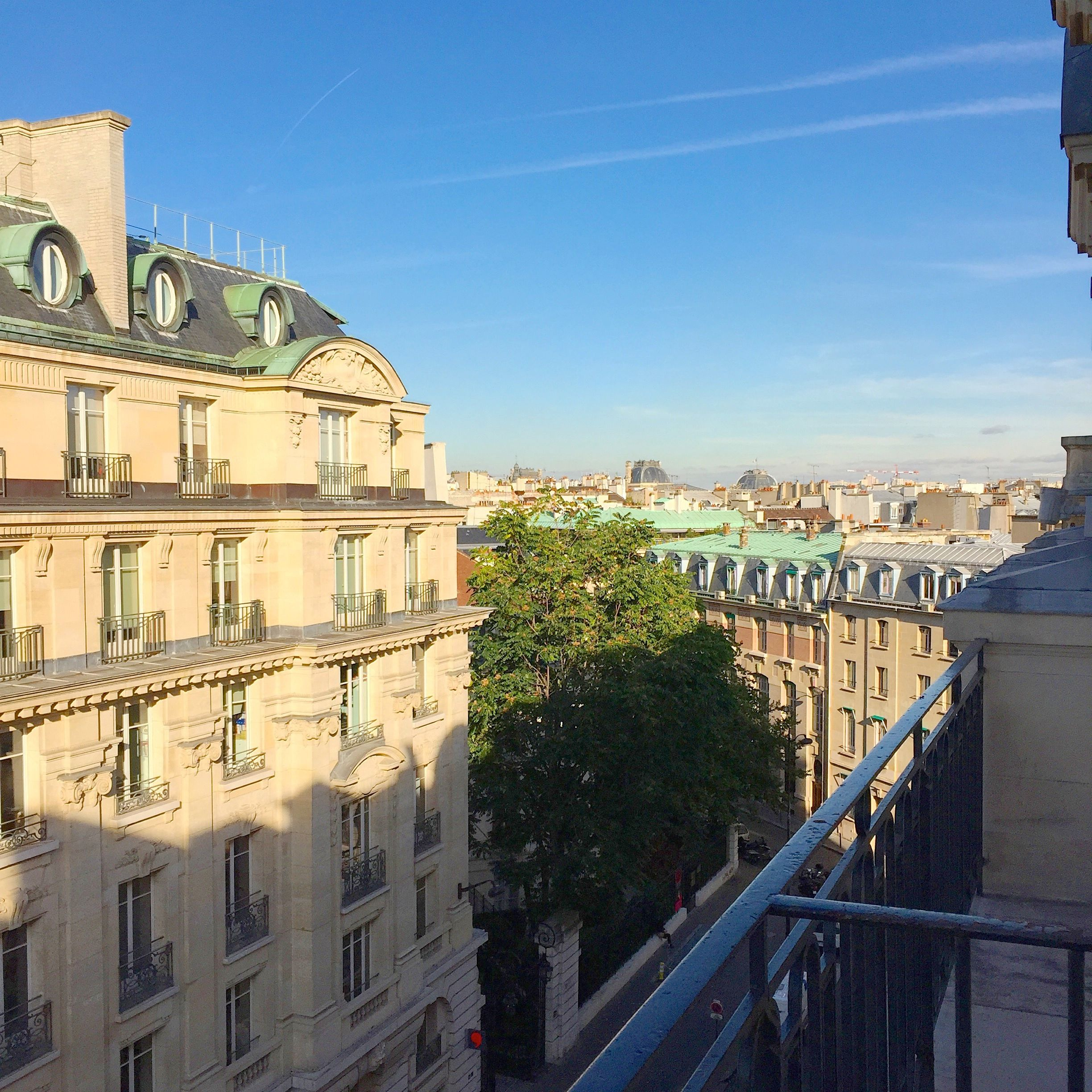 Hotel Montalembert, Paris, balcony view, VIA From the Poolside blog on boutique hotels for family holidays