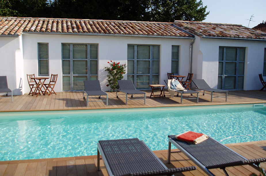 7 Ile de Re cheap hotels and b&b holiday challenge #16 From the Poolside, gorgeous hotels  # Hotel Le Bois Plage En Ré