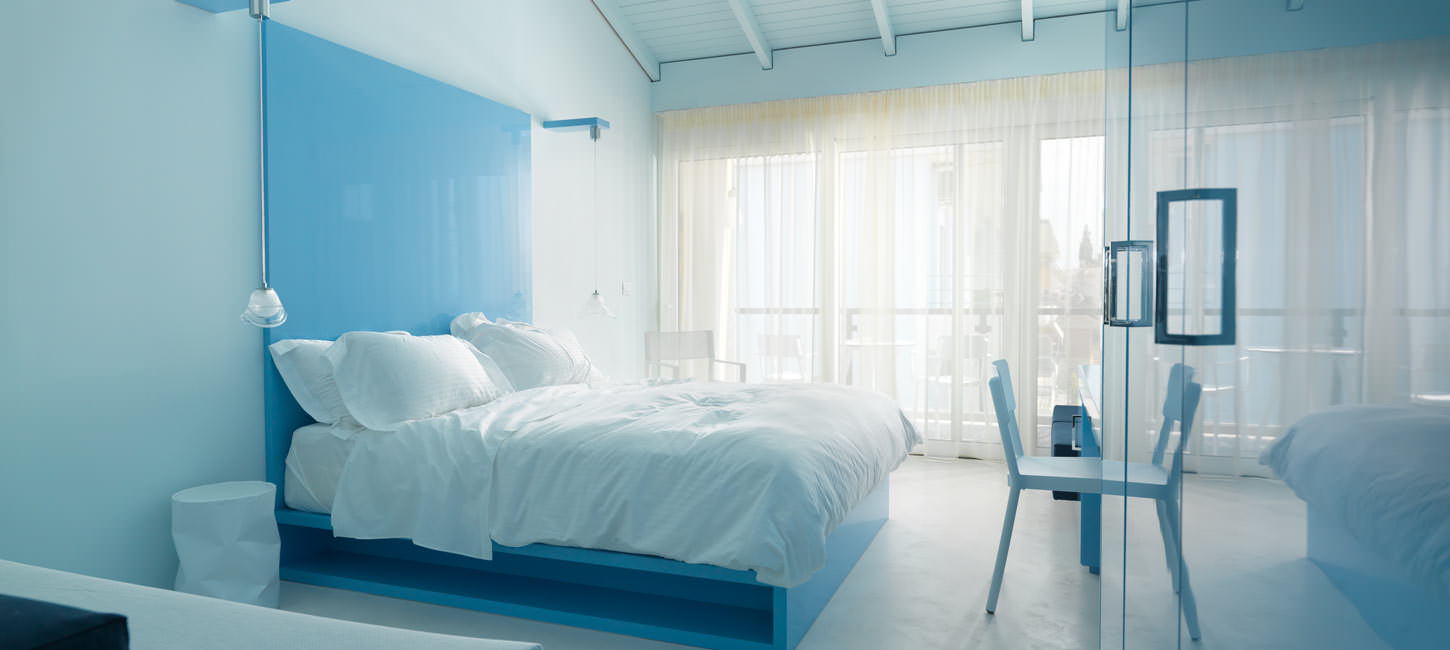 Sesa boutique hotel in Greece, one of the triple rooms.