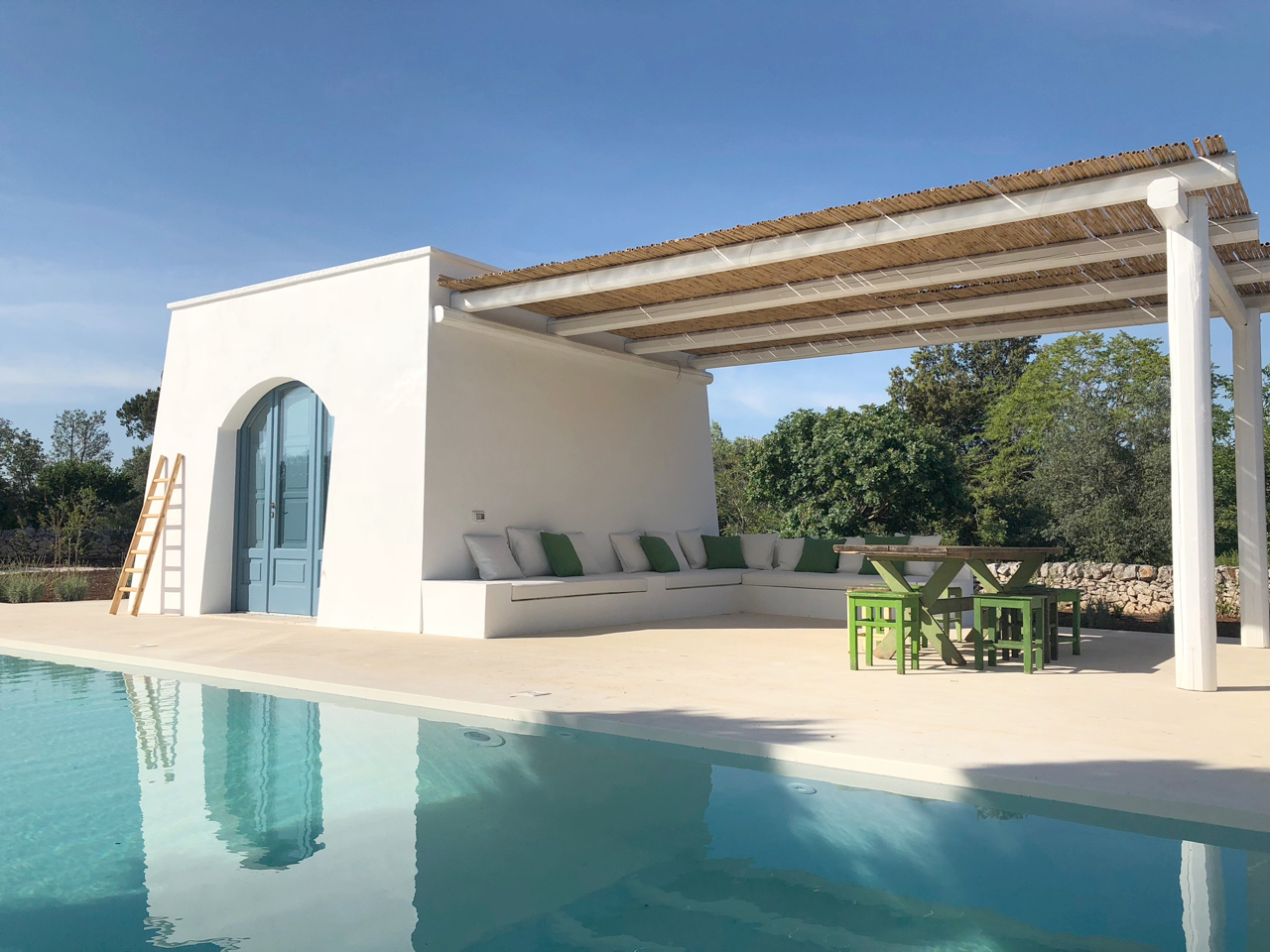 Trullo M, a villa rental with pool in Puglia with beautiful pared down decor